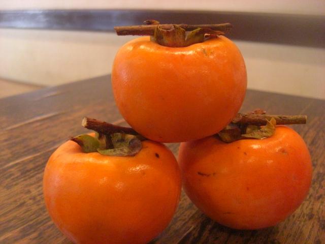 秋のフルーツ 柿